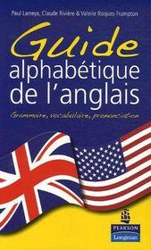 Guide alphabétique de l'anglais - Intérieur - Format classique