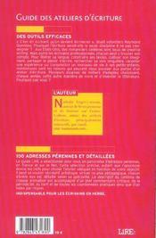 Lire : guide des ateliers d'ecriture - 4ème de couverture - Format classique