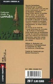 L'Utilisation Rituelle Du Cannabis - 4ème de couverture - Format classique