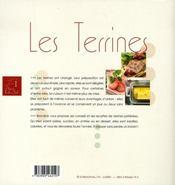 Les terrines - 4ème de couverture - Format classique