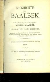 Gesghichte Von Baalbek - Couverture - Format classique