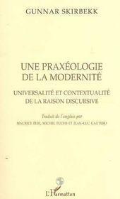 Praxeologie De La Modernite(Une) Universalite Et Conte - Intérieur - Format classique