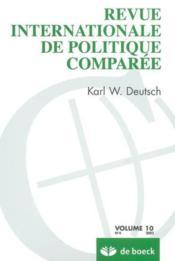 Revue Internationale De Politique Comparee 2003/4 Karl W. Deutsch - Couverture - Format classique