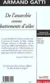 De L'Anarchie Comme Battements D Ailes T4 - 4ème de couverture - Format classique