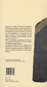 La pierre de Rosette - 4ème de couverture - Format classique