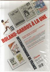 Roland-garros à la une ; coffret 20 unes historiques - 4ème de couverture - Format classique