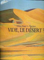Vide Le Desert ?. - Couverture - Format classique