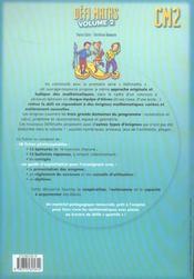 Defi Maths ; Cm2 ; T.2 ; Fiches A Photocopier - 4ème de couverture - Format classique