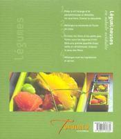 Legumes De Printemps Et D'Ete - 4ème de couverture - Format classique