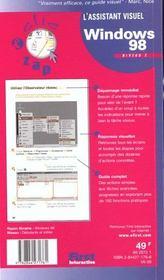 Windows 98 Niveau 2 - 4ème de couverture - Format classique