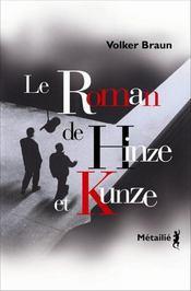 Le roman de Hinze et Kunze - Intérieur - Format classique