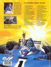 Michel vaillant t.58 ; paddock - 4ème de couverture - Format classique