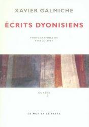 Écrits dyonisiens - Intérieur - Format classique