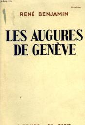 Les Augures De Geneve. - Couverture - Format classique