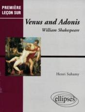 Venus And Adonis William Shakespeare - Couverture - Format classique