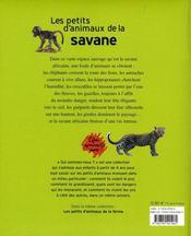 Les petits d'animaux de la savane - 4ème de couverture - Format classique