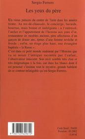 Les Yeux Du Pere - 4ème de couverture - Format classique