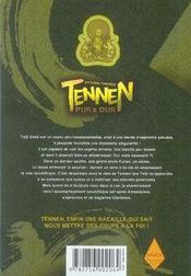 Tennen, pur et dur t.1 - 4ème de couverture - Format classique