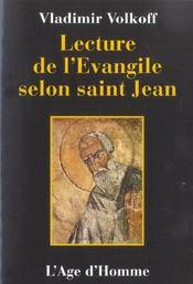 Lecture De L'Evangile Selon St-Jean - Intérieur - Format classique