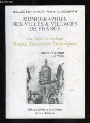 Rions (Une Filleule De Bordeaux) - Couverture - Format classique