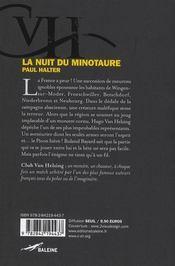 La nuit du minotaure - 4ème de couverture - Format classique