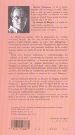 Le roman de Bergen, 1999 crépuscule t.1 - 4ème de couverture - Format classique