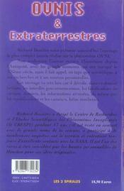 Ovnis Et Extraterrestres - 4ème de couverture - Format classique