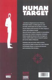 Human Target T.2 - 4ème de couverture - Format classique