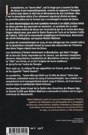 Temoin Secret De La Resurrection (Le) - 4ème de couverture - Format classique