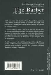 The barber, the man who wasn't there - 4ème de couverture - Format classique