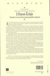 Ouest Eclair - 4ème de couverture - Format classique