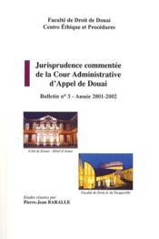 Jurisprudence commentée de la cour d'appel de Douai - Couverture - Format classique