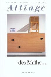 REVUE ALLIAGE N.43 ; des maths... - Intérieur - Format classique
