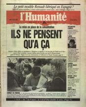 Humanite (L') N°12912 du 24/02/1986 - Couverture - Format classique
