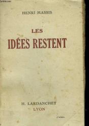 Les Idees Restent - Couverture - Format classique