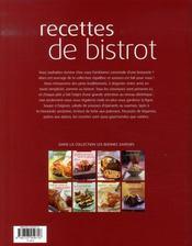Équilibre et saveurs ; recettes de bistrot - 4ème de couverture - Format classique