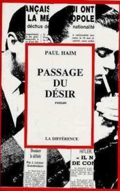 Passage Du Desir - Couverture - Format classique