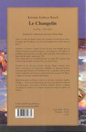 Les fey t.3 ; le changelin - 4ème de couverture - Format classique