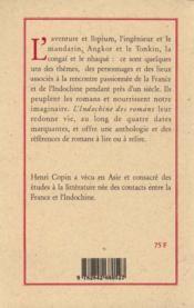 L'Indochine Des Romans - 4ème de couverture - Format classique