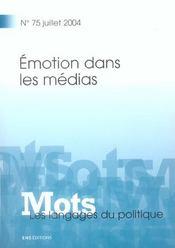 Mots t.75 ; emotion dans les medias - Intérieur - Format classique