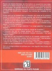 Guide pratique de la protection sociale - 4ème de couverture - Format classique