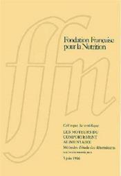 Les moteurs du comportement alimentaire ; methodes d'etude des determinants socio-economiques - Couverture - Format classique