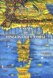 Essais De Linguistique Corse - Couverture - Format classique
