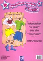 Orange Poupees A Habiller - 4ème de couverture - Format classique