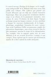 Pratique De La Langue Latin Grands Debutants - 4ème de couverture - Format classique