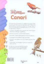 Mon ... Canari - 4ème de couverture - Format classique