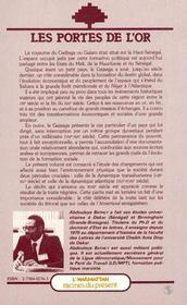 Portes De L'Or Le Royaume De Galam (Senegal) ... - 4ème de couverture - Format classique