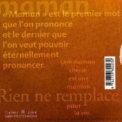 Le livre de la maman - 4ème de couverture - Format classique
