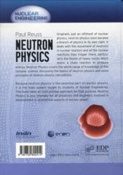 Neutron physics - 4ème de couverture - Format classique