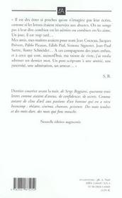 Dernier Courrier Avant La Nuit - 4ème de couverture - Format classique